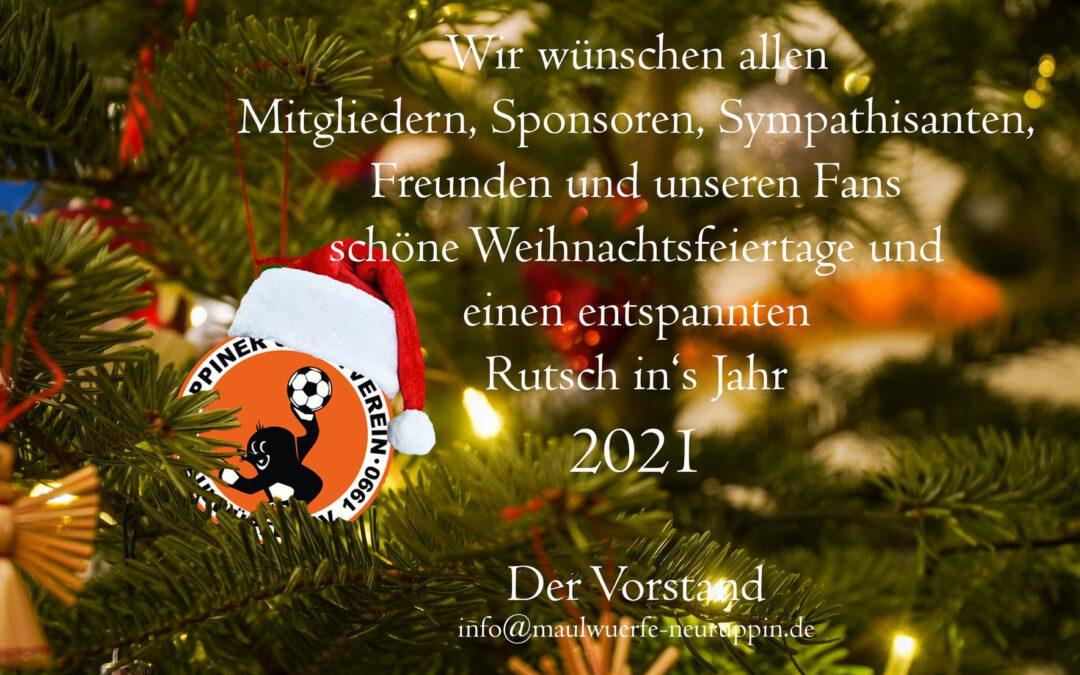Die Maulis wünschen Euch ein frohes Weihnachtsfest